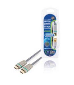 Bandridge High Speed HDMI kabel met Ethernet HDMI-Connector - HDMI-Connector 0.50 m Blauw