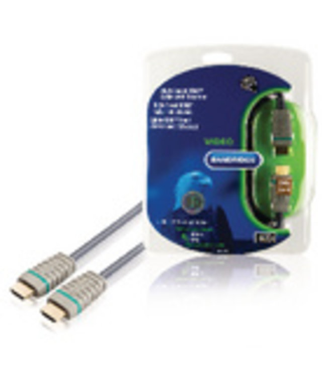 Bandridge Digitale AV-aansluiting voor aansluiten van DVD- en andere apparatuur op een HD TV.<br />Kenmerken: Voldoet aan 4K2K 3D TV, 100% zuurstofvrij koper, 24 karaats vergulde contactpunten, Geprofileerd plugontwerp met gemakkelijke greep, Gekleurde indicatorrin