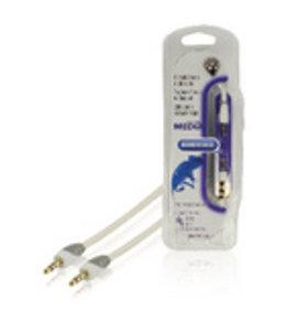 Bandridge Stereo Audiokabel 3.5 mm Male - 3.5 mm Male 2.00 m Wit