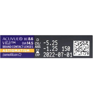 Acuvue Vita Astigmatism - 6 lenses