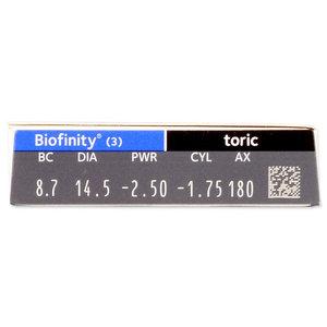 Biofinity Toric - 3 lentilles