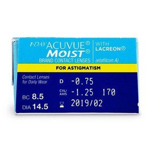 Acuvue 1-Day Moist Astigmatism - 90 lentilles