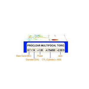Proclear Multifocal Toric - 6 Linsen