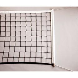 Volleybalnet recreatief gebruik met stokken