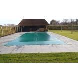 Zwembad afdekzeil PVC kleur blauw voor een bad van 5x10 meter