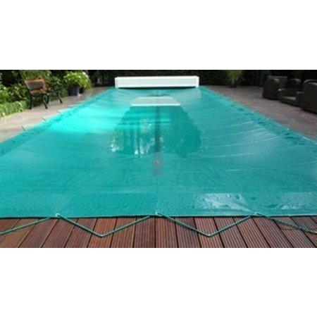 Zwembad afdekzeil PVC kleur grijs voor een bad van 4x8 meter
