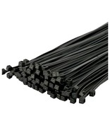 Universeel Tie-Wrap, eenvoudige en snelle kabelbinder. 100 stuks per verpakking -Zwart