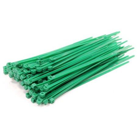 Universeel Tie-Wrap, eenvoudige en snelle kabelbinder. 100 stuks per verpakking -Groen