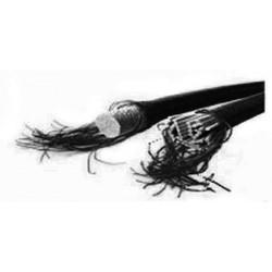 Trapezekoord 8 mm zwart