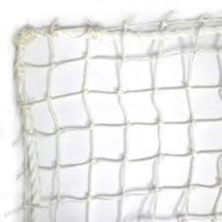 Nylon net geknoopt wit 27mm maas  - extra dikke draad