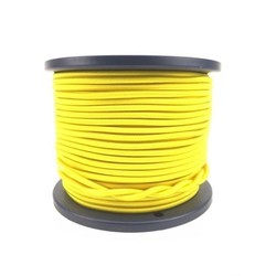 Trapezekoord 6 mm per meter geel