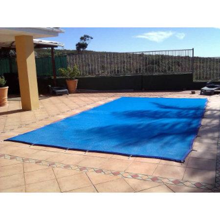 Zwembad afdeknet kleur blauw, voor een zwembad van 7x3,50 meter