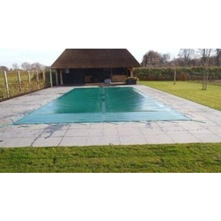 Zwembad afdeknet kleur groen, voor een zwembad van 5x10 meter