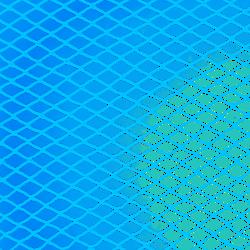 Blauwe tuinnetten