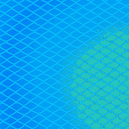 Knooploos tuinnet - 22mm 6x6 blauw