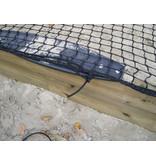 Zandbaknet 3 mm geknoopt met extra stevige randlijn. Op maat gemaakt per m2