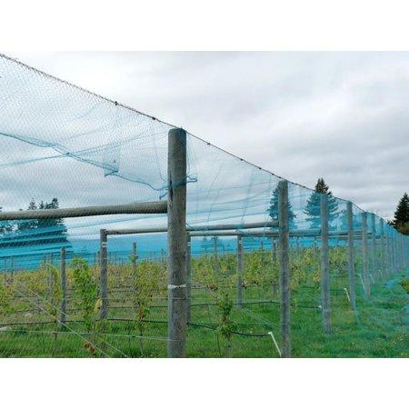 Tuinnet blauw per m2 op maat gesneden