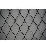 Valnet 10x10 100 m2 geknoopt zwart