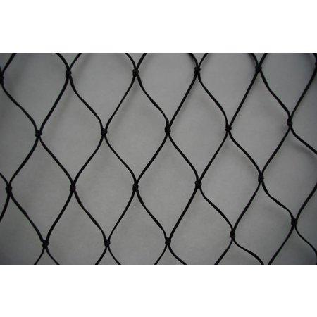 Valnet 15x10 150 m2 geknoopt zwart