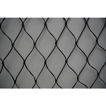 Valnet 15x15 225 m2 geknoopt zwart