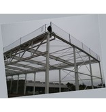 Valnet Randnet 2.5x10 25 m2 geknoopt wit