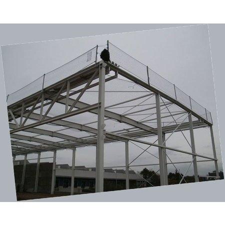 Valnet Randnet 2.5x15 37.5 m2 geknoopt zwart