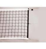 Volleybalnet voor wedstrijd gebruik 100 mm maas, inclusief fiberstokken en spanlijn