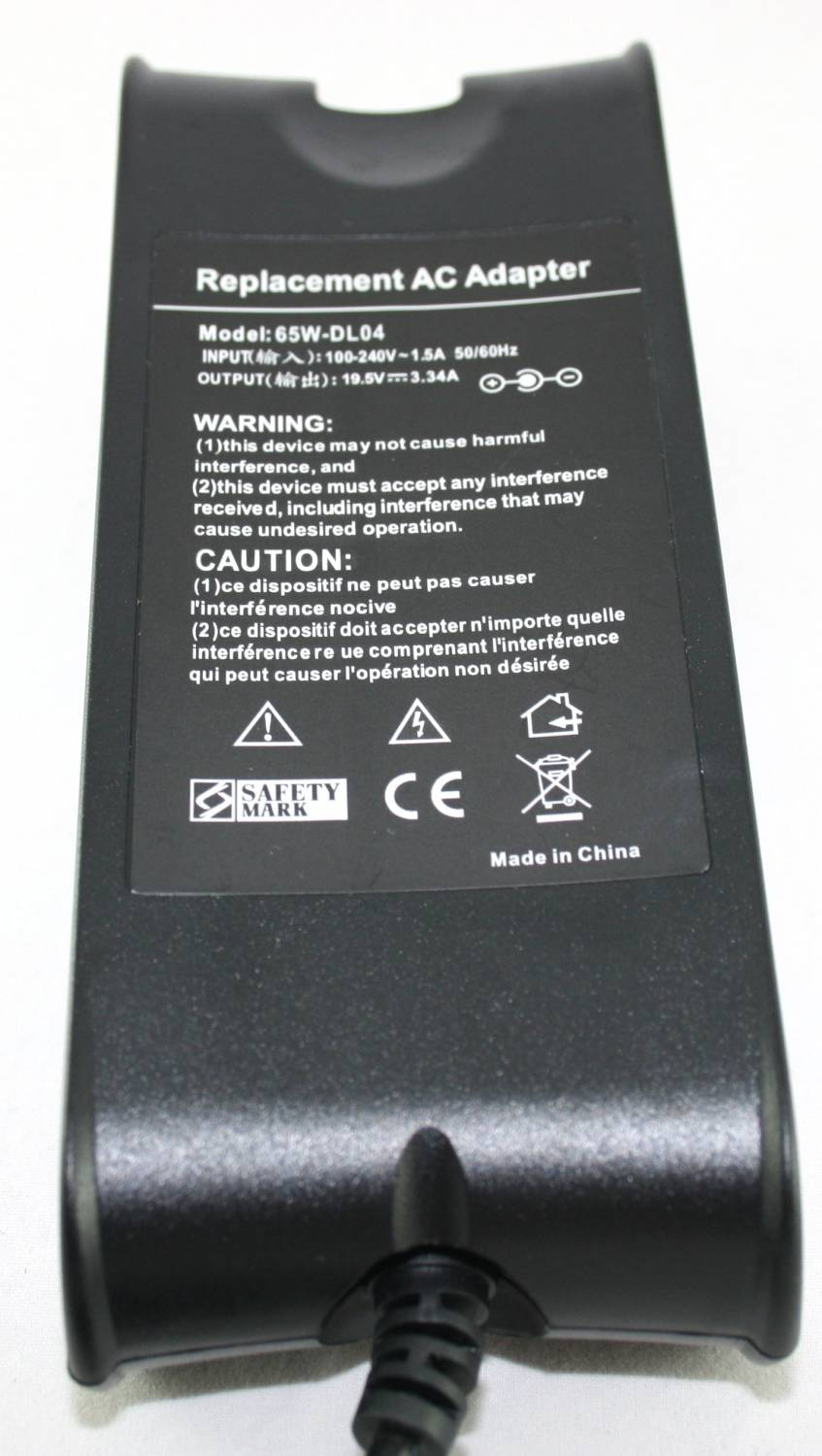 Dell adapter 19,5V 3.34A 7.5 x 5.0 mm middenpin / TA0405