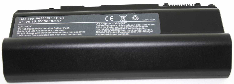 Toshiba Accu Qosmio F20-F25, Satellite A50-A55 10,8 volt 6600mAh
