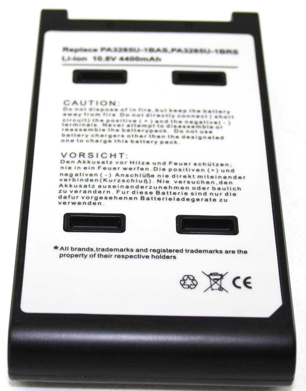 Toshiba Accu Qosmio E10/E15/f!5/G15 Satellite A10/A15 Tecra A1/A8 10,8 volt 4400mAh