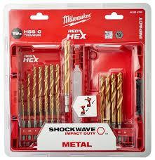 Diverse Shockwave HSS-G Tin Red Hex boren set