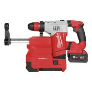 Milwaukee M18 CHPXDE-502C Heavy Duty sds-plus accuboorhamer incl. stofafzuigset FUEL 18V / 5.0 Ah