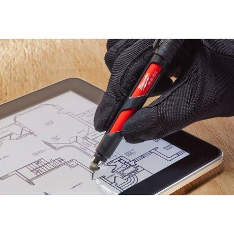 Marker zwart met fijne punt en stylus