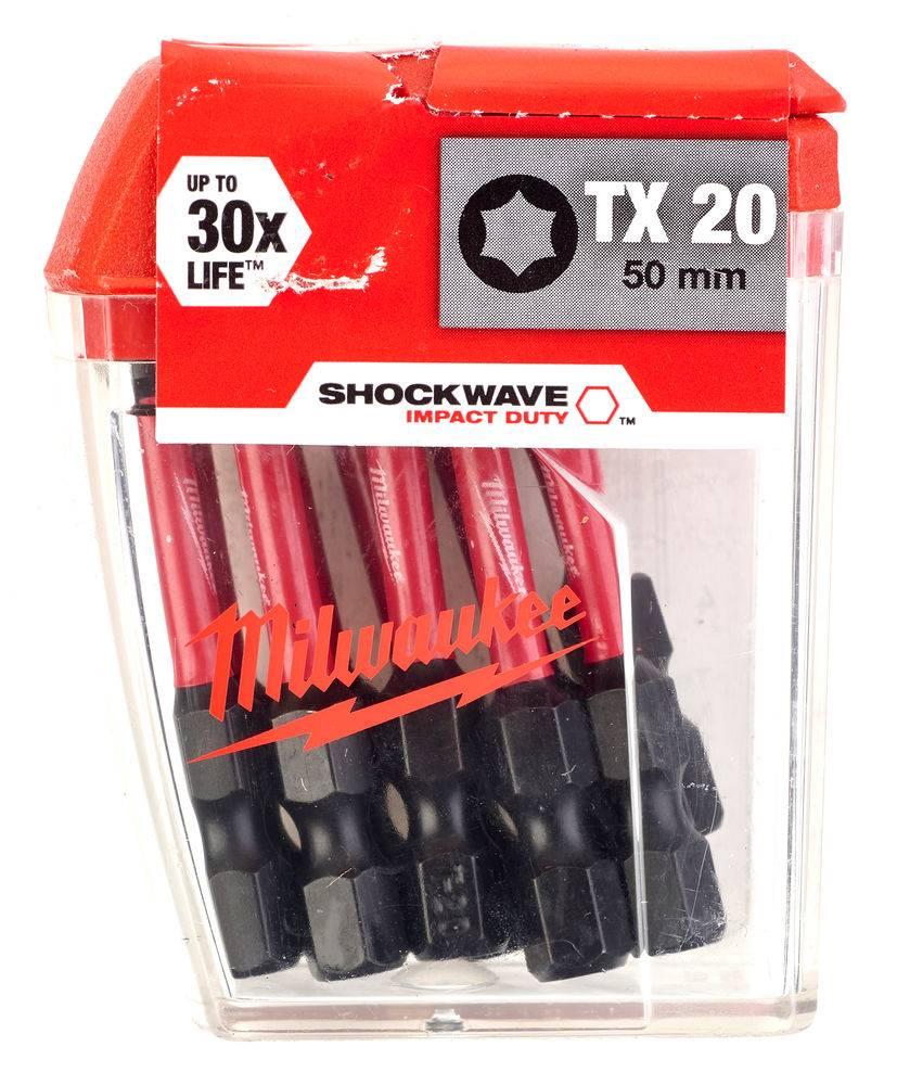 Milwaukee Shockwave Schroefbit TX20 Gen 2 10st