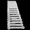 Sleutelset metrische combinatie 15-delige
