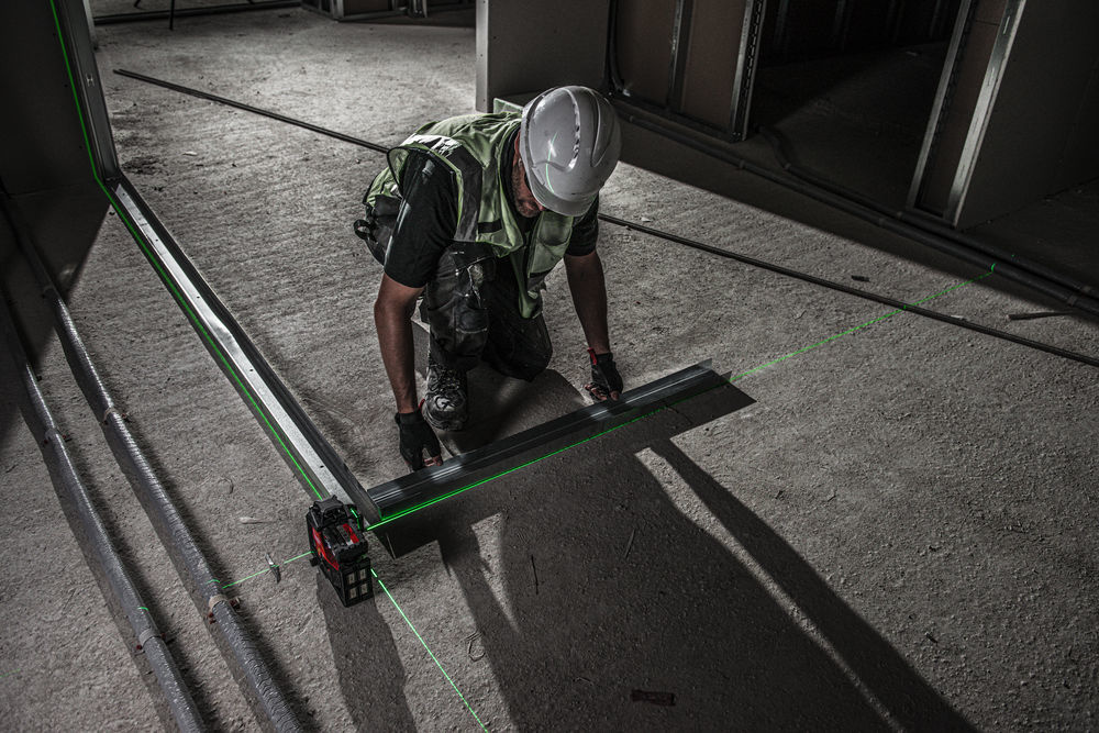 M12™  3PL driedimensionale laser met 3 groene 360° laser cirkels