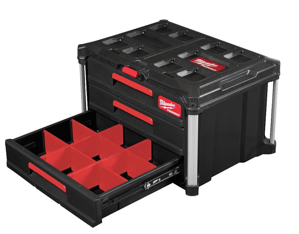 PACKOUT™ Toolbox met drie lades