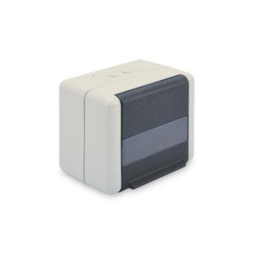 Datenanschlussdose für Keystone Module IP44, Aufputz, mit Klappdeckel, optionaler Einsatz für 2x Keystone Module