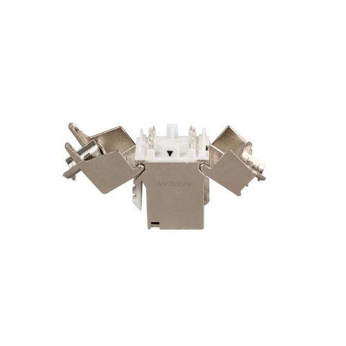 INFRALAN® RJ45 Keystone Slimline, Cat.6A, 500 MHz, 10 Gbit
