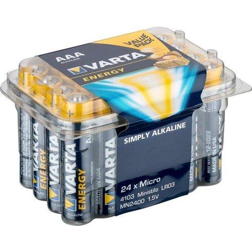 Varta 24 x Varta LR03/AAA (Micro) (4103) - Alkali-Mangan Batterie (Alkaline), 1,5 V
