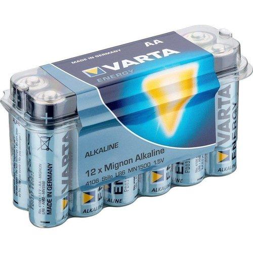 Varta 12 x Varta LR6/AA (Mignon) (4106) - Alkali-Mangan Batterie (Alkaline), 1,5 V