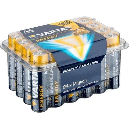 Varta 24 x Varta LR6/AA (Mignon) (4106) - Alkali-Mangan Batterie (Alkaline), 1,5 V