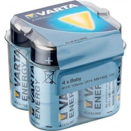 Varta 4 x Varta LR14/C (Baby) (4114) - Alkali-Mangan Batterie (Alkaline), 1,5 V