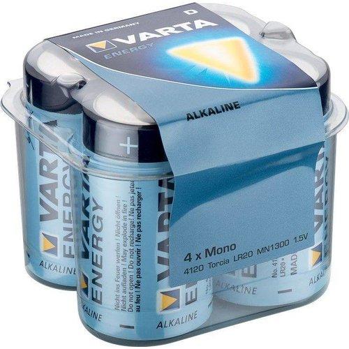Varta 4 x Varta LR20/D (Mono) (4120) - Alkali-Mangan Batterie (Alkaline), 1,5 V