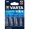 Varta 4 x Varta LR6/AA (Mignon) (4906) - Alkali-Mangan Batterie (Alkaline), 1,5 V