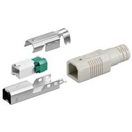 USB B-Stecker<br>zur werkzeugfreien Crimp-Montage