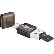 Kartenlesegerät USB-C™, USB 2.0<br>für direkten Datenaustausch zwischen Speicherkarten und Notebooks, Smartphones