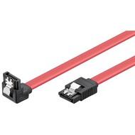 HDD S-ATA Kabel 1.5 GBits / 3 GBits 90° Clip<br>SATA L-Typ Stecker > SATA L-Typ Stecker 90° 0.5M
