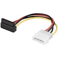 PC Y Stromkabel/Stromadapter, 5.25 Stecker zu 2x SATA 90°<br>SATA Standard Stecker 90° > HDD/5,25 Zoll-Stecker (4-Pin)