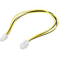 PC Stromkabel Verlängerung ATX12 P4, 4 Pin<br>P4-Stecker > P4-Buchse